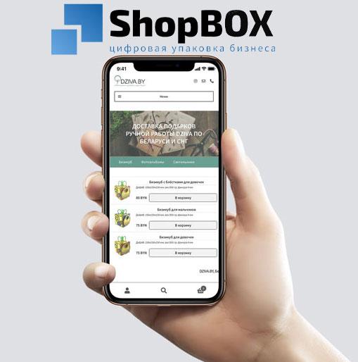 dziva.by - разработка приложения DoCode DEV ShopBOX